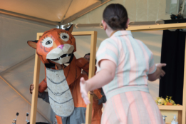 'The Tiger Who Came To Tea' performed at Chichester Festival Theatre's Family Fun in the Park