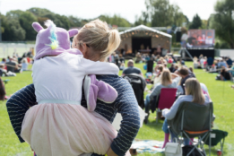 Audiences at Chichester Festival Theatre's Family Fun in the Park