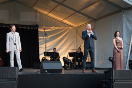 Rob Houchen, Daniel Evans & Gina Beck at Chichester Festival Theatre's Concert in the Park