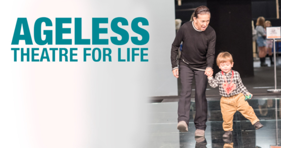 Ageless: Theatre for Life. Image of woman and toddler on stage
