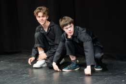 Members of the company of CFYT's The Marxist in Heaven as part of NT Connections 2021